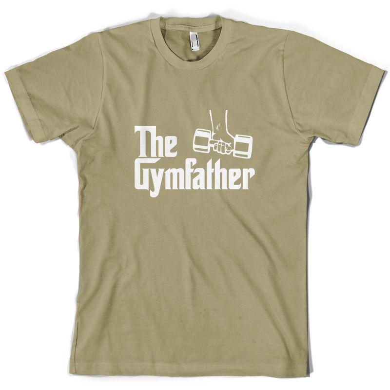 he Gymfather Mens T-Shirt Weightlifting Gym Exercise 10 Colours Funny free shipping Unisex Casual