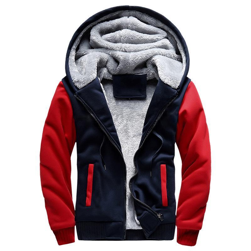 new styles 9e64c 379e4 Wanderjacke Herren Sweatshirts Mit Kapuze Herbst und Winter Kleidung  Männliche Baseballuniform Männliche Koreanisch-Stil Bewegung plus Samt Thi