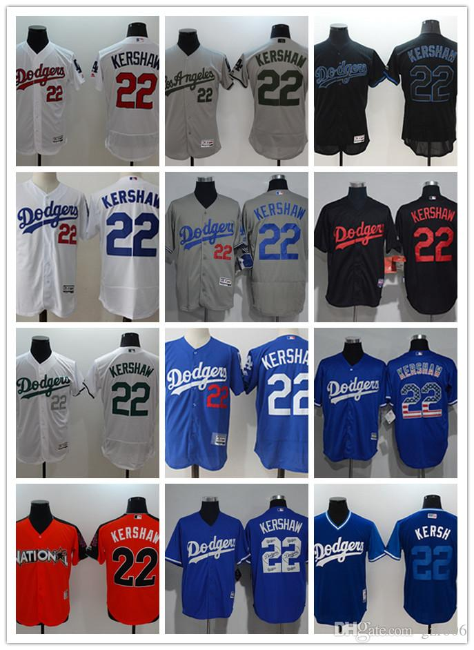 9bc87ca58 2019 Custom Men S Women Youth Majestic Los Angeles Dodgers Jersey  22  Clayton Kershaw Home Blue Grey White Kids Girls Baseball Jerseys From  Gzf606