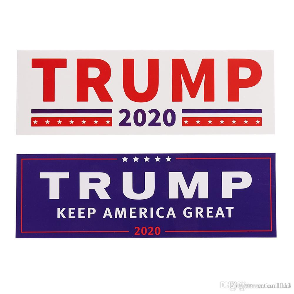 Donald trump for president 2020 bumper sticker keep make america great decal for car styling dhl print window stickers print your own window clings from