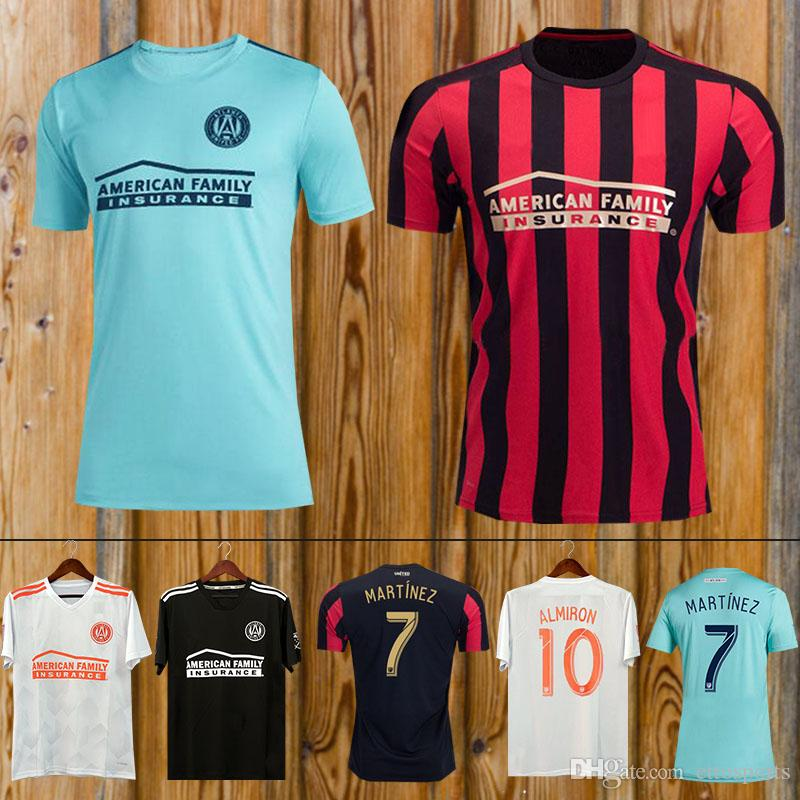 promo code 22ddc c0040 Top Thai quality 19 20 Atlanta United soccer jersey 2018 2019 GARZA JONES  VILLALBA MCCANN MARTINEZ ALMIRON FC Atlanta football shirt