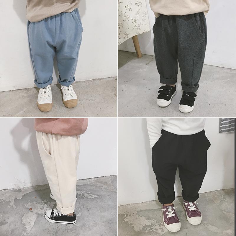 c957e034d Pantalones de primavera pantalones de harén de algodón de color sólido para  bebés, niños, niñas bebés, pantalones de nabo suaves de todo ...