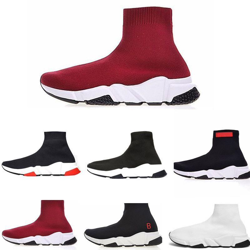 f0f96ce66 Compre Balenciaga Sock Shoes Designer De Moda Meia Sapatos Velocidade  Running Shoes Mulheres Botas Sapatilhas Sapatos De Grife Meias Trainer S  Corredores De ...