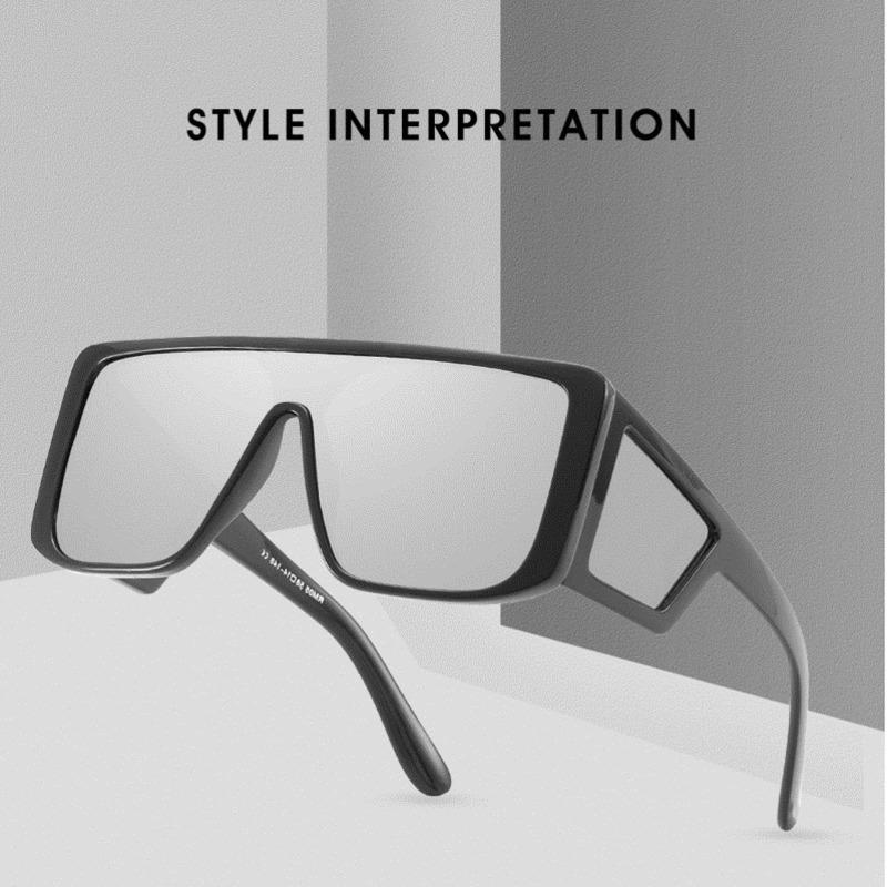 ef67c7a5a7e Yok s UV400 Sunglasses Men Women Brand Designer Large Frame ...