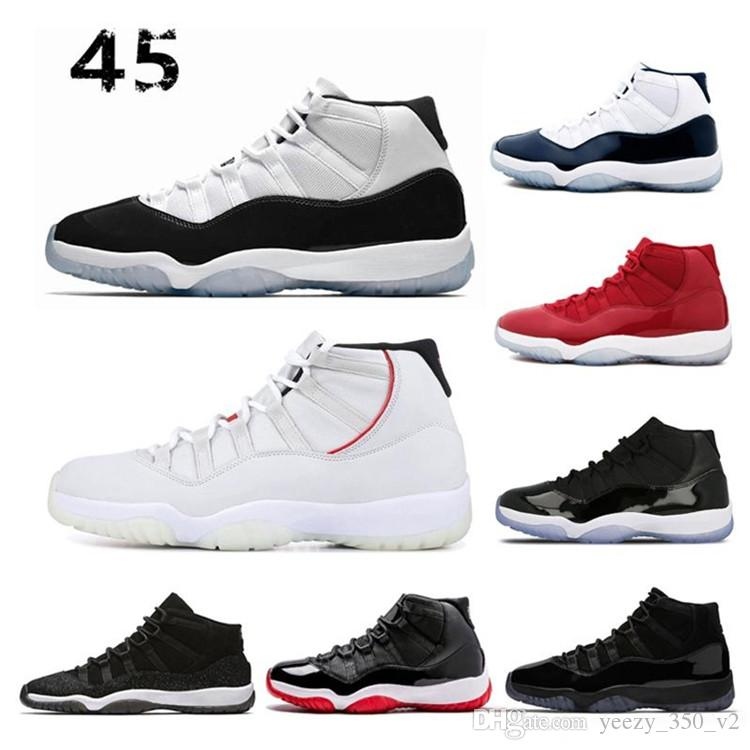 save off 2e9ed 88fb5 Cair 1 JORDAN 1 Platinum Tint Concord 45 prom night XI 11s 11 Cap and Gown  Men women Retro Basketball Shoes bred space Sports sneakers 1