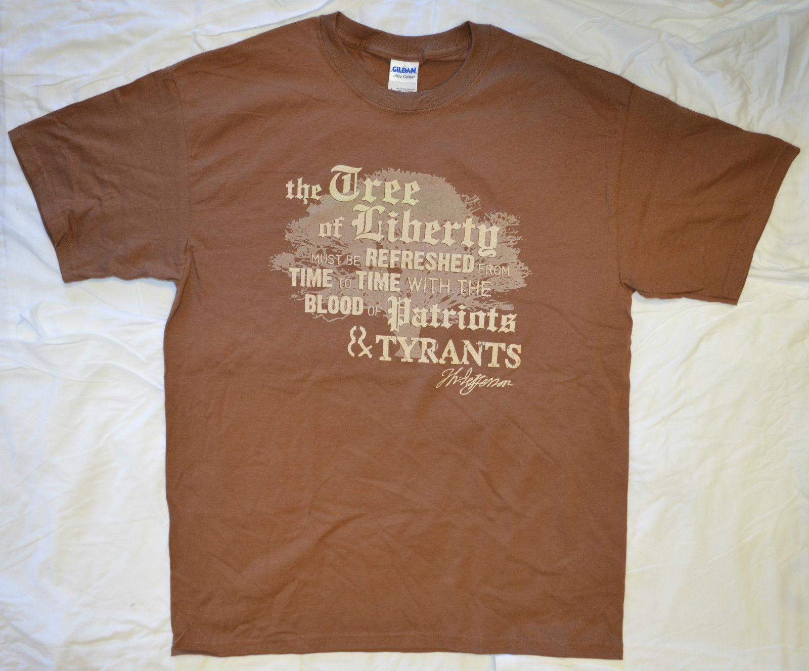 d861b3c7d9f1 Thomas Jefferson Tree Of Liberty Blood Of Patriots T Shirt All Sizes S  3XFunny Unisex Casual Top T Shirts Design Designer T Shirts From  Sixpoundtees