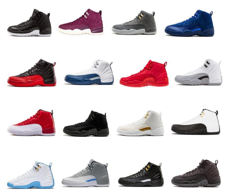 Free Shipping 12s Basketball Shoes Men women New CNY Chinese Year Men Basketball Shoes 12 CNY White Black Gold Trainer Sneakers