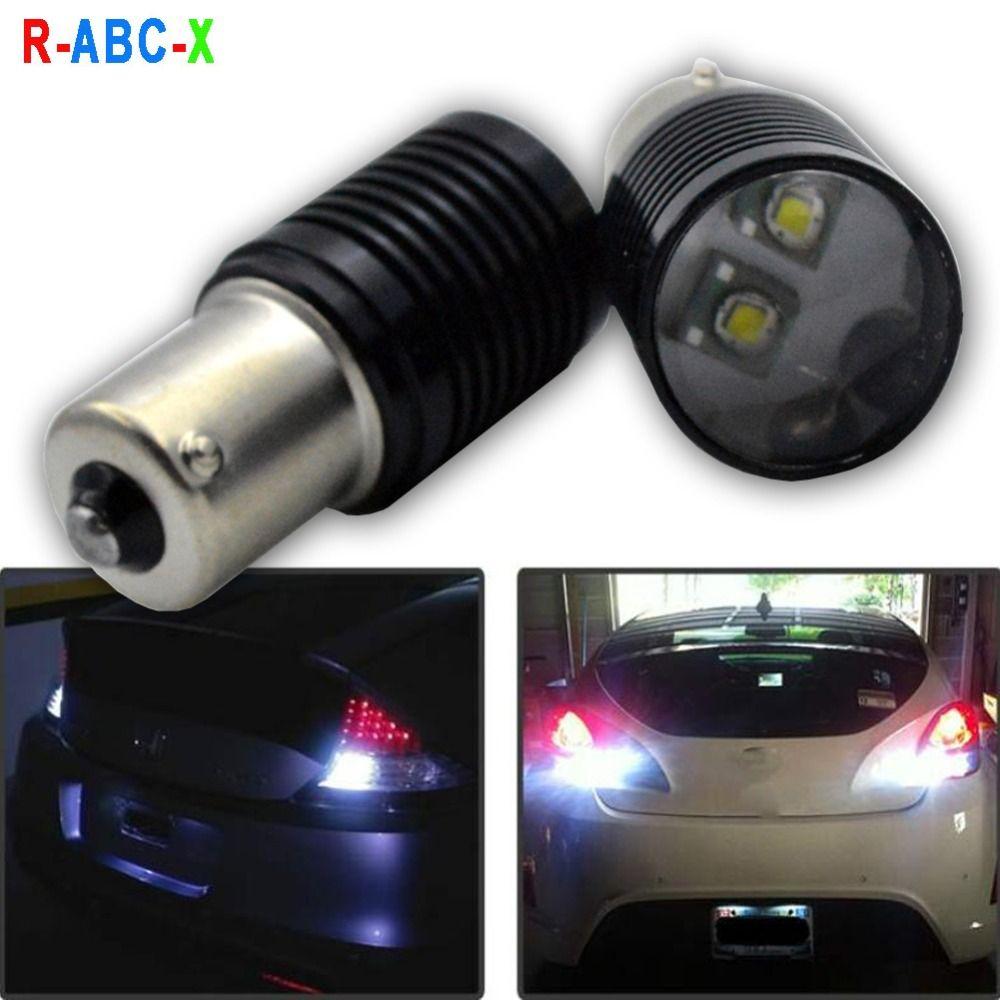 2x Lumières Tail De Blanc Frein Ba15s Ac12 Daytime Ampoule Lampe 10w Auto P21w Light Voiture 1156 Running Smd Reverse Led Cre'eq5 24v Bau15s tdxrhQCs