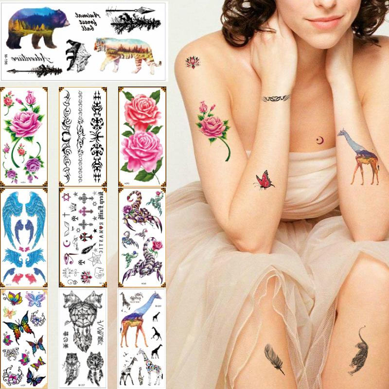 9*19cm M Beauty Temporary Body Tattoos Sticker For Boy And Girl Hand ...