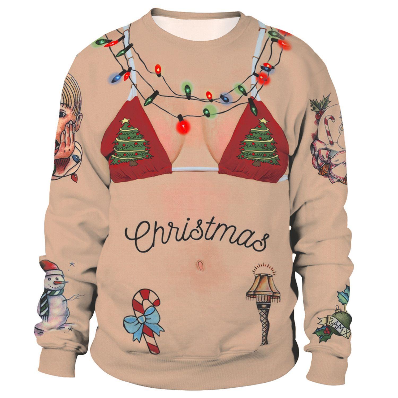 New Family Merry Christmas Sweatshirt Unisex Men Hoodies Funny Hairy