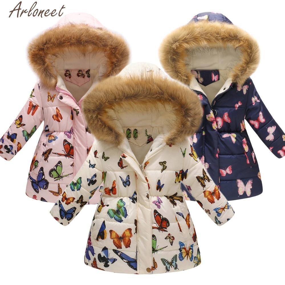 0ccd6666543 ARLONEET Toddler Baby Girls Boys Jacket Winter Floral Thick Warm Windproof  kids coat big boy coats and jackets girl coat