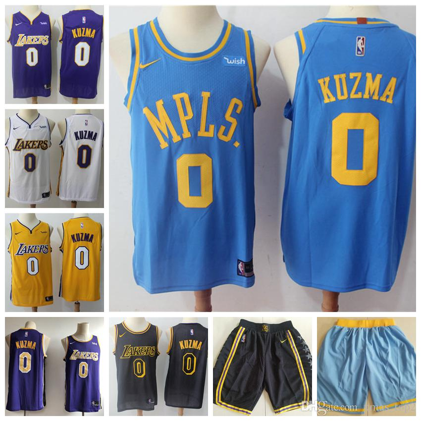 best service 72c30 45eca 2019 Mens 0 Kyle Kuzma Los Angeles Jersey Lakers Basketball Jerseys  Stitched New City Edition Kyle Kuzma 0 Jerseys Lakers Basketball Shorts
