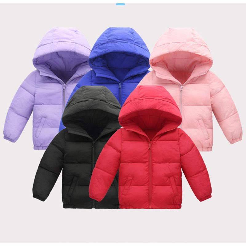 e482999c8 Baby Boy Girl Kids Winter Windbreaker Boys Coats Solid Baby Girl ...