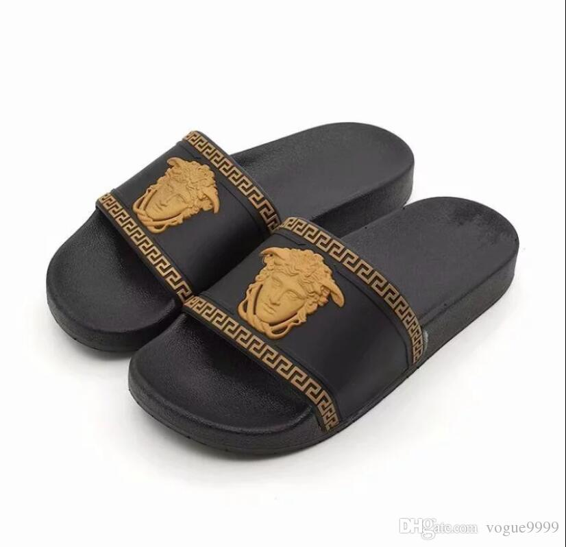 b406b947f05bd HOT NEW VERSACE Medusa Rubber Slide Sandal Slippers Red White Design Men  with Classic Summer Flip Flops size 40-44 #56