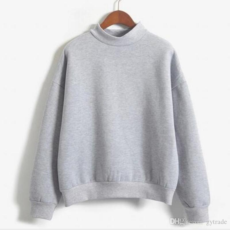 Cute Women Hoodies Pullover Autumn Coat Winter Loose Fleece Thick Knit Sweatshirt Female