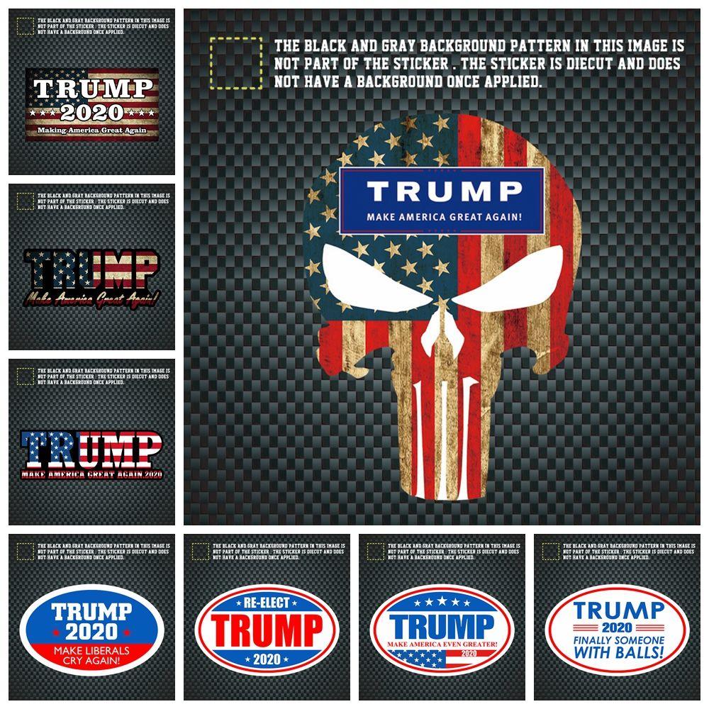 Trump 2020 car sticker america president general election donald john trump vehicle paster autocar creative decoration stickers aaa2071 custom car window