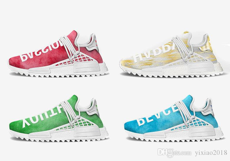 9468f71ef NMD Human Race China Exclusive Running Shoes Sneakers Pharrell Williams  Happy Passion Peace Youth Men Women Casual Sports Designer Shoes Leopard  Print Shoes ...