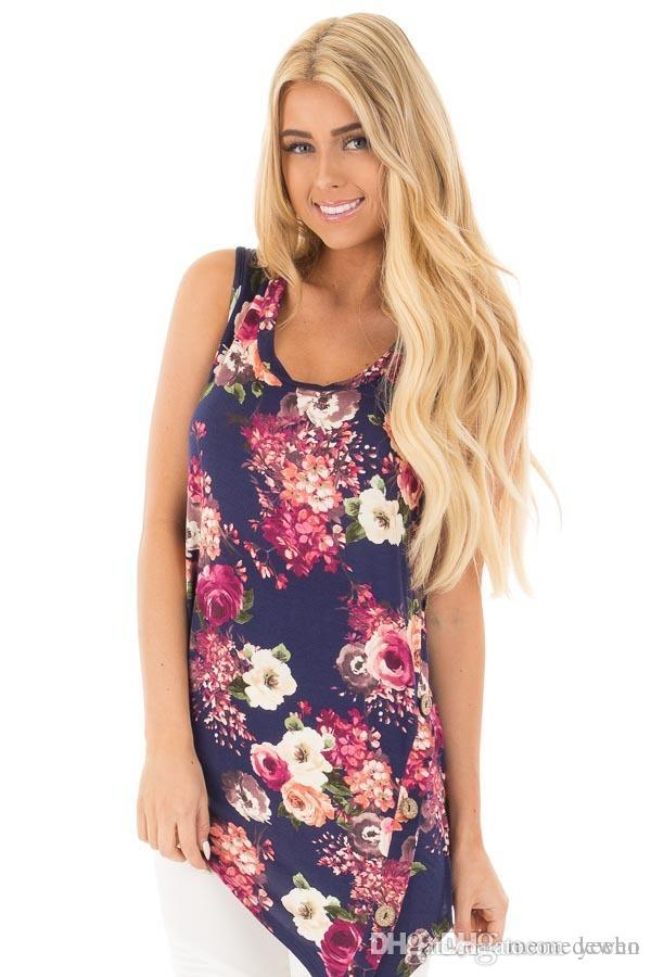 dd697fbfcfb 2019 Plus Size Tops Summer Rayon Milk Silk Shirt Women S Top Clothings  Tanks Long Floral T Shirts Women T Shirts Vest Female T Shirt XZ 084 From  Yeeho