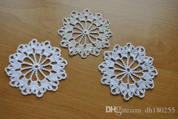 12pcs Crochet Christmas Snowflakes White Crochet Doily Lace Doilies Crochet Center Piece Table Decor 3 3 Inches 8 5 Cm S 3 100 Cot