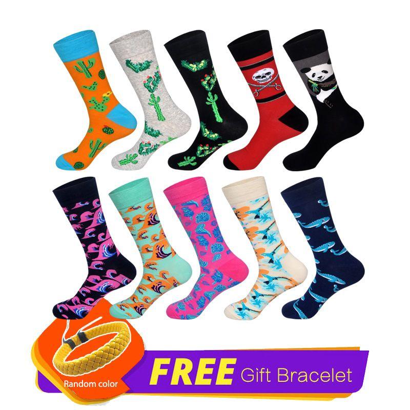 Mens Thermal Happy Socks High Quality Colorful Design Men Combed Cotton Funny Socks Novelty Skateboard Socks Gift For Hombre Men's Socks