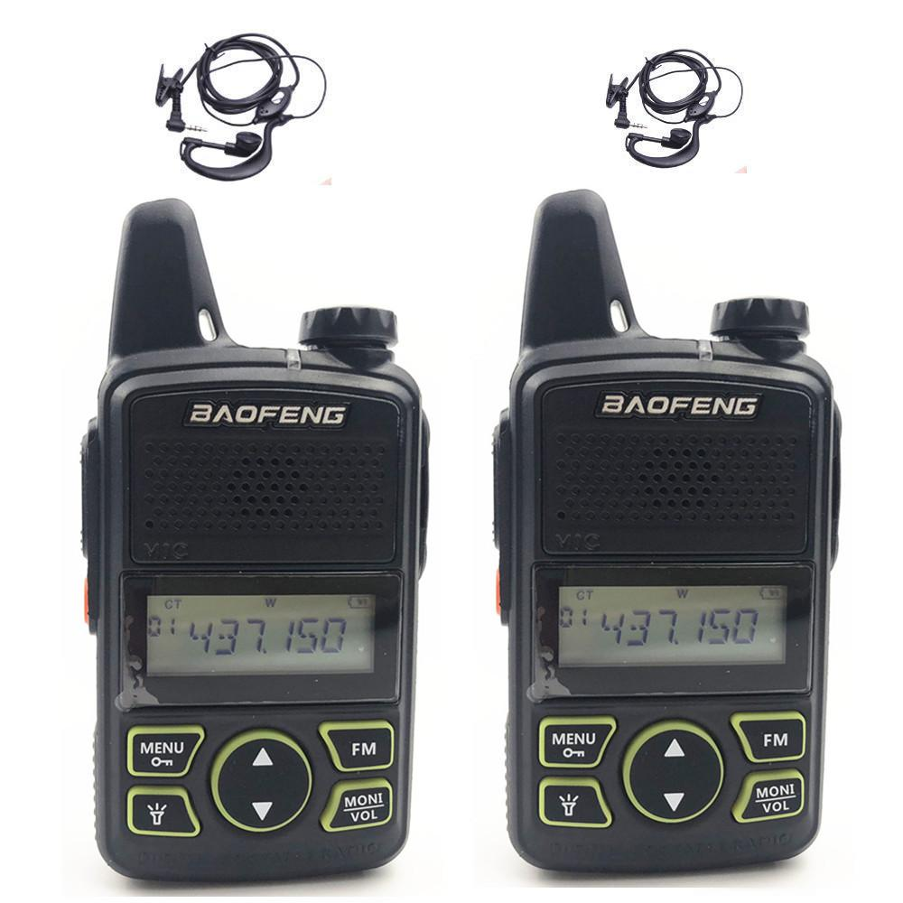 9a03cc74444 Baofeng BF T1 MINI Kids Walkie Talkie Ham Two Way Radio Comunicador 1 Walkie  Talkie USB Handheld Portable HF Transceiver Walkie Talkie Wrist Watch 100  Mile ...