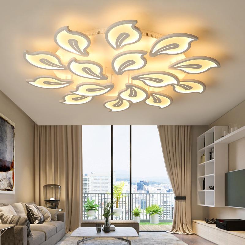 Led Wohnzimmer Decken Lampe Mit Fernbedienung Indoor Hause Führte Licht Decke Plafondlamp 90 V-260 V Für 15-25square Meter Deckenleuchten & Lüfter