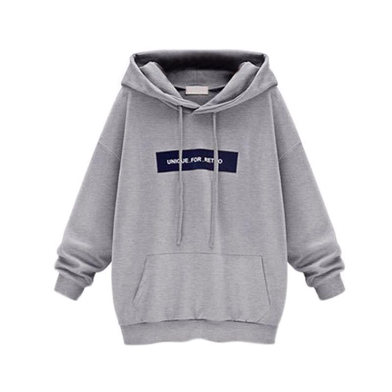 9332f981f9 Großhandel Harajuku Brief Print Pullover Frauen Hoodies Sweatshirt 2019  Casual Velvet Lose Rosa Hoodie Weibliche Grau Rosa Von Romperpant, $20.41  Auf De.