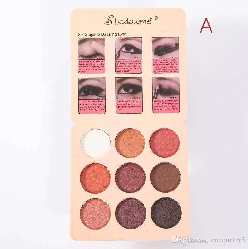Hot Sale Vintage makeup eyeshadow Shadowme PRO color 9 color eyeshadow palette Waterproof eye shadow cosmetic