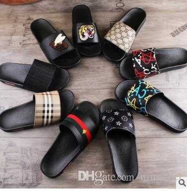 Men Women Sandals Designer Shoes Luxury Slide Summer Best Fashion Wide Flat Slippery Sandals Slipper Flip Flop size 35-46 flower