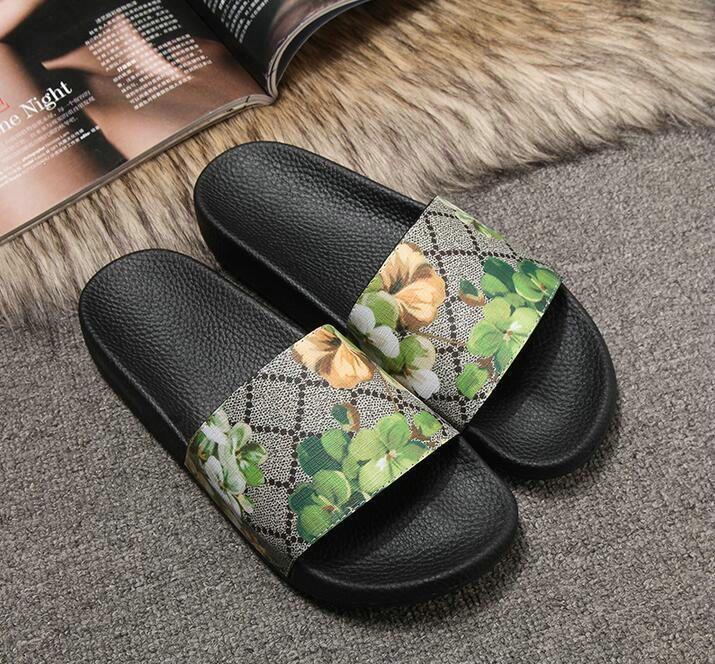 07b1624683b5 Luxury Brand Designer Rubber Slide Sandal Floral Brocade Men Slipper Gear  Bottoms Flip Flops Women Striped Beach Causal Slipper Buy Shoes Online  Wedge Boots ...