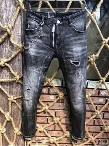 1ad8986793416 Compre Hombres Ripped Slim Hole Jeans Diseñador De Moda Motocicleta Recta  Biker Jeans Causal Denim Pantalones Para Hombre Fresco A213 A  47.21 Del  Cityqueen ...