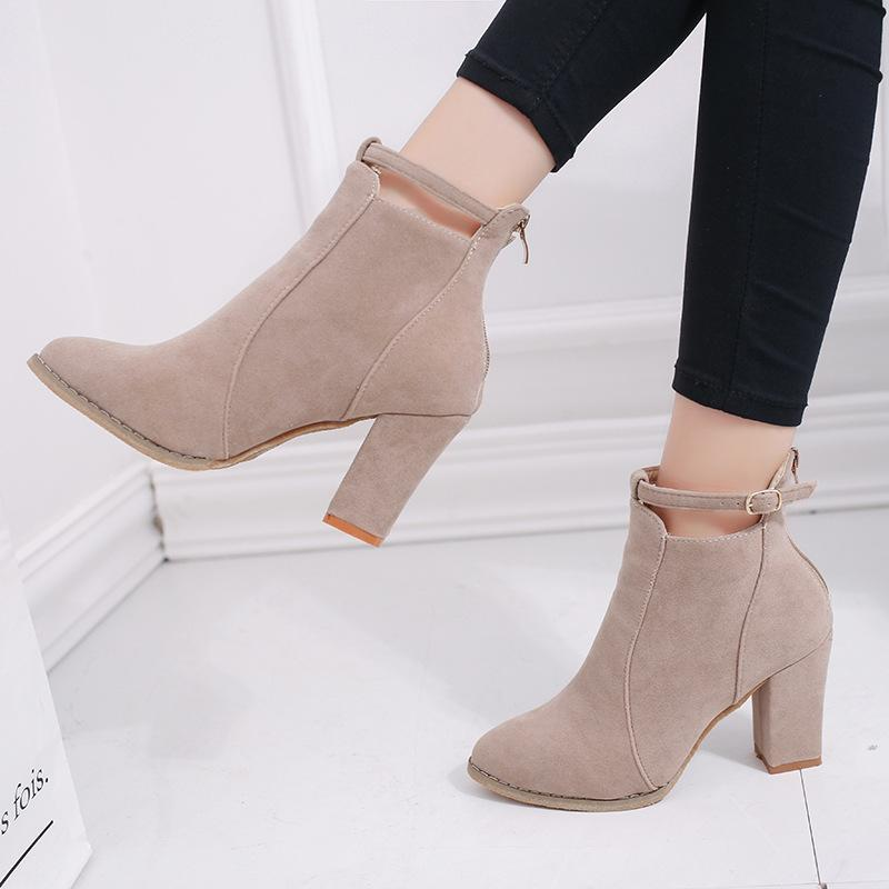 5f6c0062112 Lwo Heel Shoes Woman Large Size Ladies Pumps 2018 Chunky Heels Low Women  Winter Big Designer High Fashion Online with  48.56 Pair on Shoes2244 s  Store ...