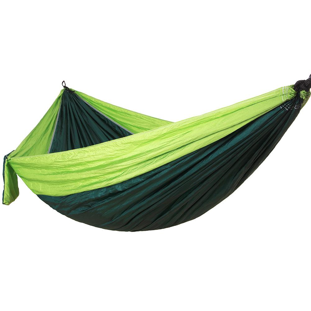 2019 double person portable parachute nylon fabric hammock travel ultralight camping hamak outdoor furniture hanging sleeping bed from hobarte