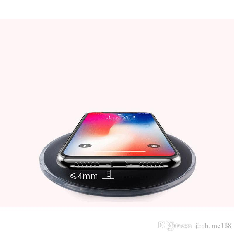 UFO fast wireless charger charging pad with LED light cable for S7 Edge S8 Plus note8 Iphone X 8 plus retail box US01
