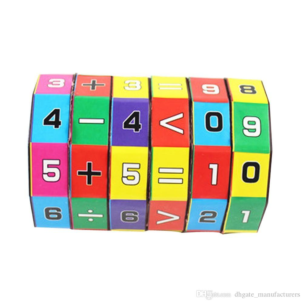 New Slide puzzles Children Kids Mathematics Numbers Magic Cube toys for  children kids toys Puzzle Game Gift