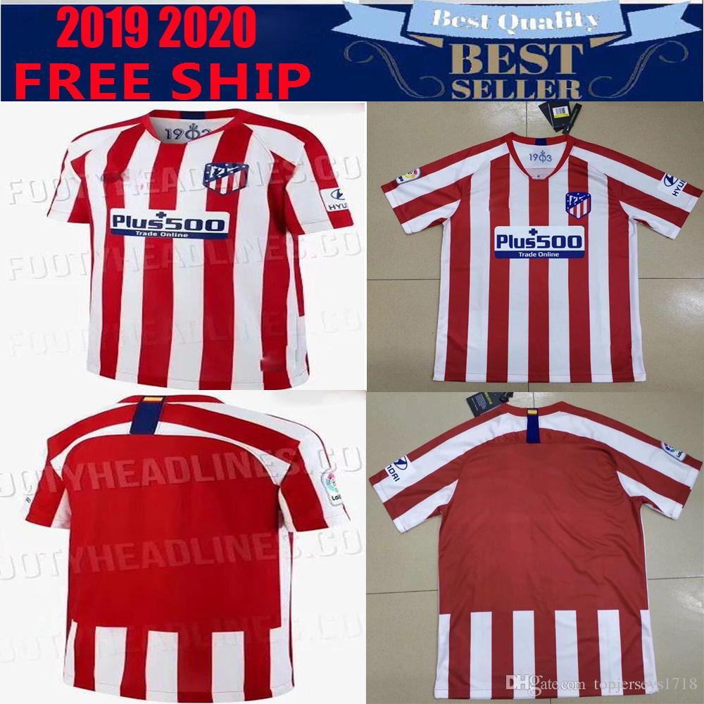 1b0ab384b1a 2019 New Thailand Atletico Madrid Soccer Jersey 2019 2020 GRIEZMANN KOKE  GABI SAUL DIEGO COSTA GODIN 19 20 Men Football Shirt Uniforms From  Topjerseys1718