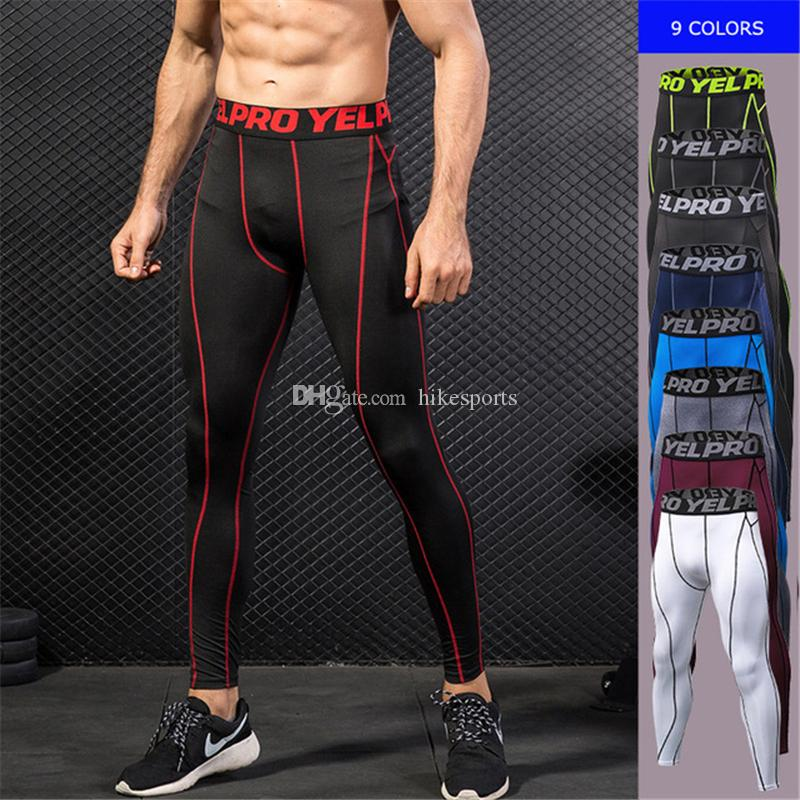 a0ab1ba0b5e 2019 Men Fast Drying Gym Sports Pants Tights Running Training Riding Sport  Trousers Man Elastic Breathable Exercise Fitness Leggings Sweat Pants From  ...