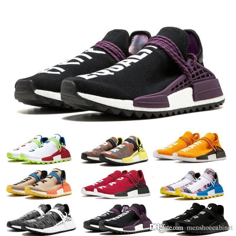 2019 Cheap NMD HUMAN RACE Pharrell Williams Men's & Women's Mc Tie Dye Solar Pack Mother designer Fashion Sport Shoes With Box