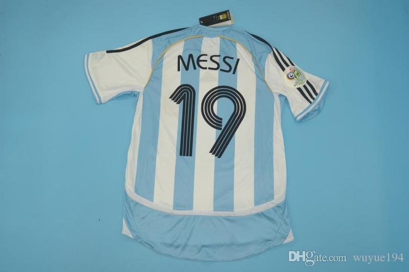 9db1b4687 2006 World Cup Argentina Home Retor Jerseys Sorin Aimar Messi ...