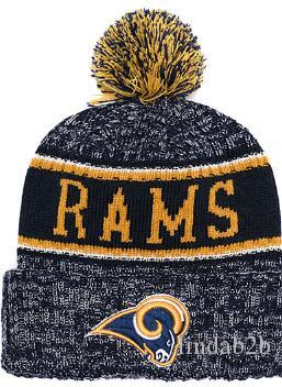 new concept 427a1 8c22b 2019 Rams Beanie LA Sideline Cold Weather Graphite Official Revers Sport Knit  Hat All Team winter Warm Knitted Wool Skull Cap 1000+01