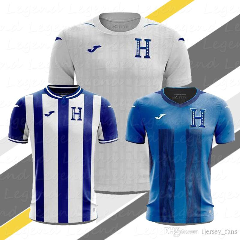 best loved 6b6bd 7e6bb Honduras soccer jersey 19 20 Camisetas Honduras Home Lozano #9 Quioto #12  white Football Shirts jerseys Kit Maillot Maglia Tops