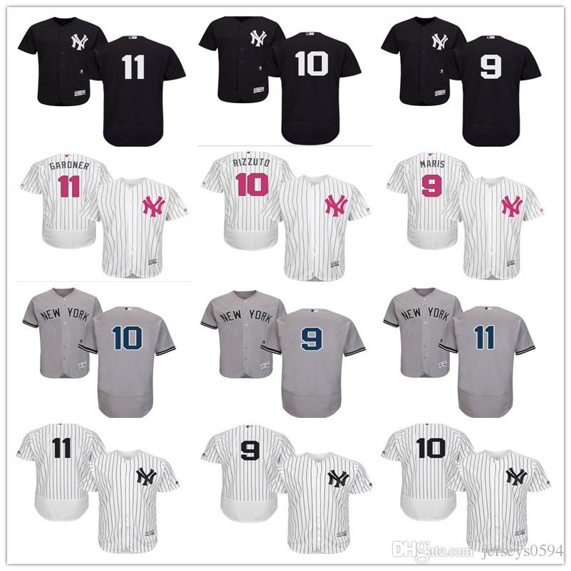 56a3a877dc1 2018 Custom Men's Women Youth Majestic NY New York Yankees Jersey #9 ...