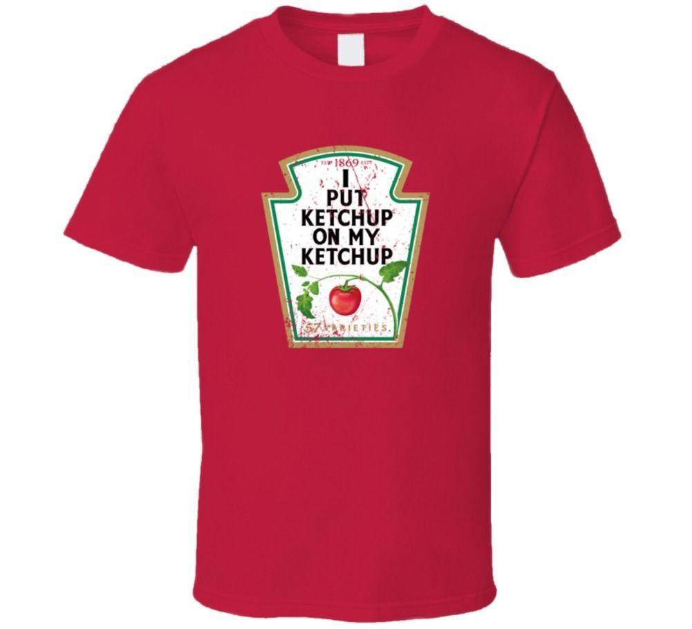 0bc5ddd6ccfb Amante de salsa de tomate estilo angustiado camiseta hombres mujeres Unisex  moda camiseta envío gratis