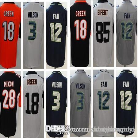#3 Russell Wilson Football Jersey New Seattle Seahawks