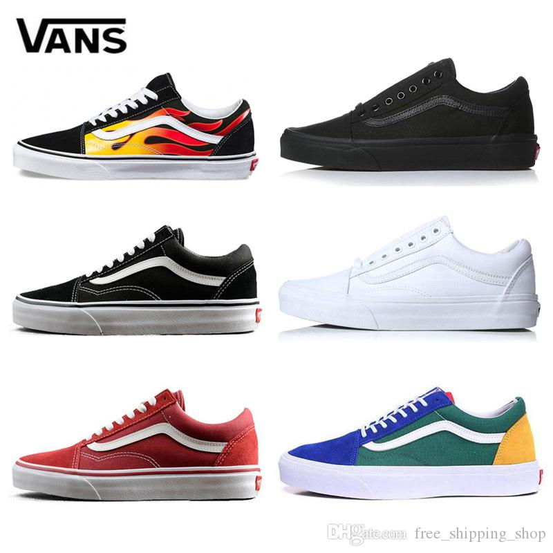1b5e3c637f Acquista Original Vans Old Skool Yacht Club Uomo Scarpe Casual Donna  Skateboard Canvas Sports Scarpe Da Ginnastica Da Uomo Zapatillas Running  Shoe Sneaker A ...