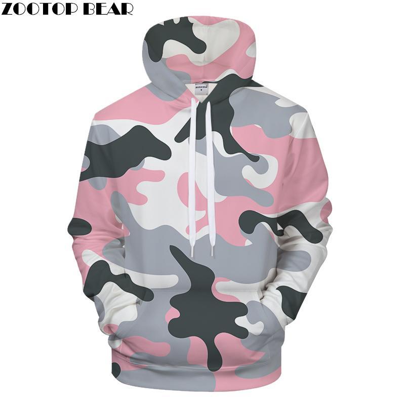 b40b30a2e55 2019 Pink Camo 3D Print Hoodies Men S Clothing Women Sweatshirt ...