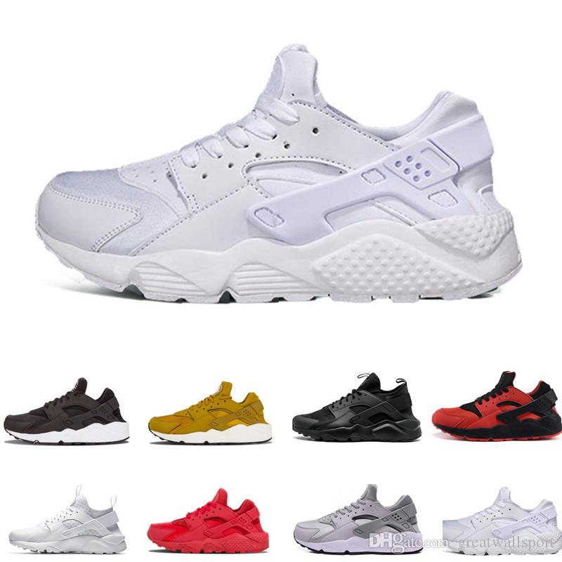 31355c1c1d2 2019 Huarache 1.0 4.0 Run Ultra SE IV Men Casual Shoes Trainer Triple Black  Red Pink Lightweight Athletic Sport Outdoor Sneakers 36 45 Walking Shoes  Flat ...
