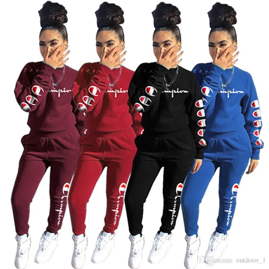 691ec8639ed Brand Designer Women Tracksuit Outfits Sweatshirt Leggings Jogger Suit Champion  Hoodie Sportswear Pants Pullover Sweatsuit 3011 Online with $20.56/Set on  ...