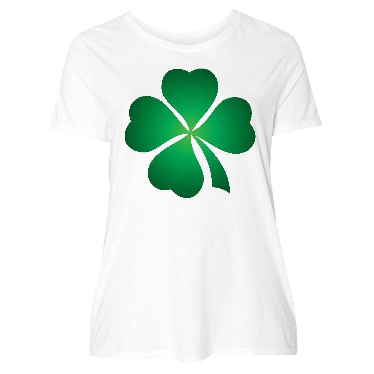 661b2376c Inktastic Irish St Patricks Day Green Clover Women's Plus Size T-Shirt  Ireland 4Funny free shipping Unisex Casual Tshirt
