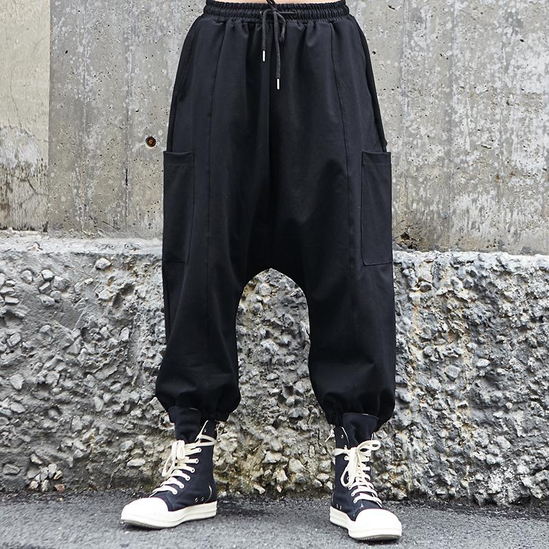 2019 NUEVA Ropa Para Hombres Moda Peluquería Yamamoto Suelta Hip Hop  Pantalones Anchos De Pierna Ancha Más Trajes De Cantante A  98.44 Del  Vikey08  808d32841b6